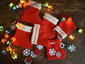 """Мастерим упаковки для небольшого подарка """"Новогодние носочки"""". Ярмарка Мастеров - ручная работа, handmade."""