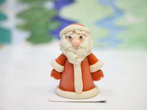 Лепим вместе с детьми Деда Мороза из соленого теста | Ярмарка Мастеров - ручная работа, handmade