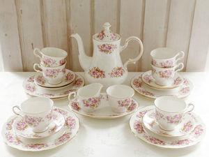 """Кофейный сервиз """"Розовый сад"""", Queen Anne, Англия. Ярмарка Мастеров - ручная работа, handmade."""