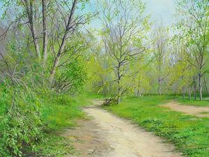 Аукцион!!! — картина акрилом ''Дыхание весны''. Ярмарка Мастеров - ручная работа, handmade.