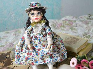 """Авторская кукла """"Читательница"""". Ярмарка Мастеров - ручная работа, handmade."""