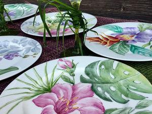 """Сервиз """"Тропический сад"""". Ярмарка Мастеров - ручная работа, handmade."""