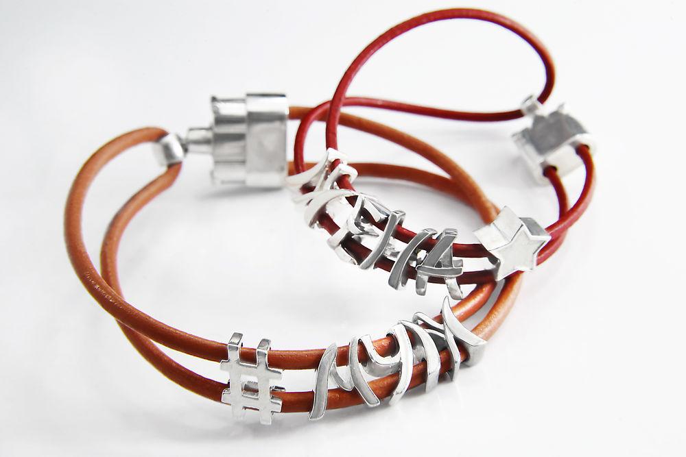 проект, серебряные украшения, браслет из кожи, украшение на руку, серебро 925, шнурок