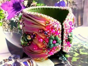 Шибори лента ))) Приму заказ на браслет с шелковой лентой шибори.. Ярмарка Мастеров - ручная работа, handmade.