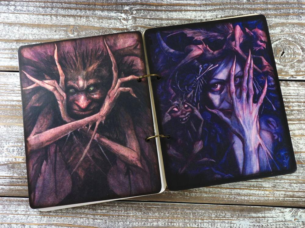 спиритическая доска, блокноты ручной работы