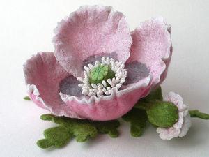 Войлочный цветок без каркаса и пропитки. Ярмарка Мастеров - ручная работа, handmade.