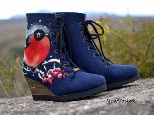 Новая жизнь войлочной обуви. Восстановление и модернизация.   Ярмарка Мастеров - ручная работа, handmade