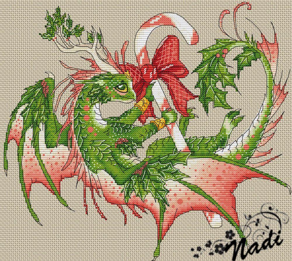 Вышивка крестом дракон схема фото 859