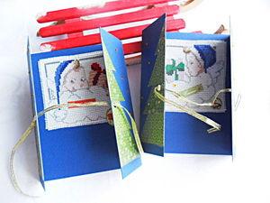 Щедрый аукцион. Новогодние открытки с ручной вышивкой крестом.. Ярмарка Мастеров - ручная работа, handmade.
