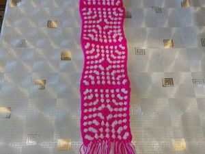 Творческий процесс моего вязанного шарфика. Ярмарка Мастеров - ручная работа, handmade.