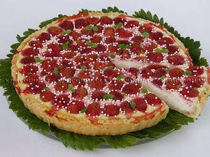 Творожный Пирог с Клубникой | Ярмарка Мастеров - ручная работа, handmade