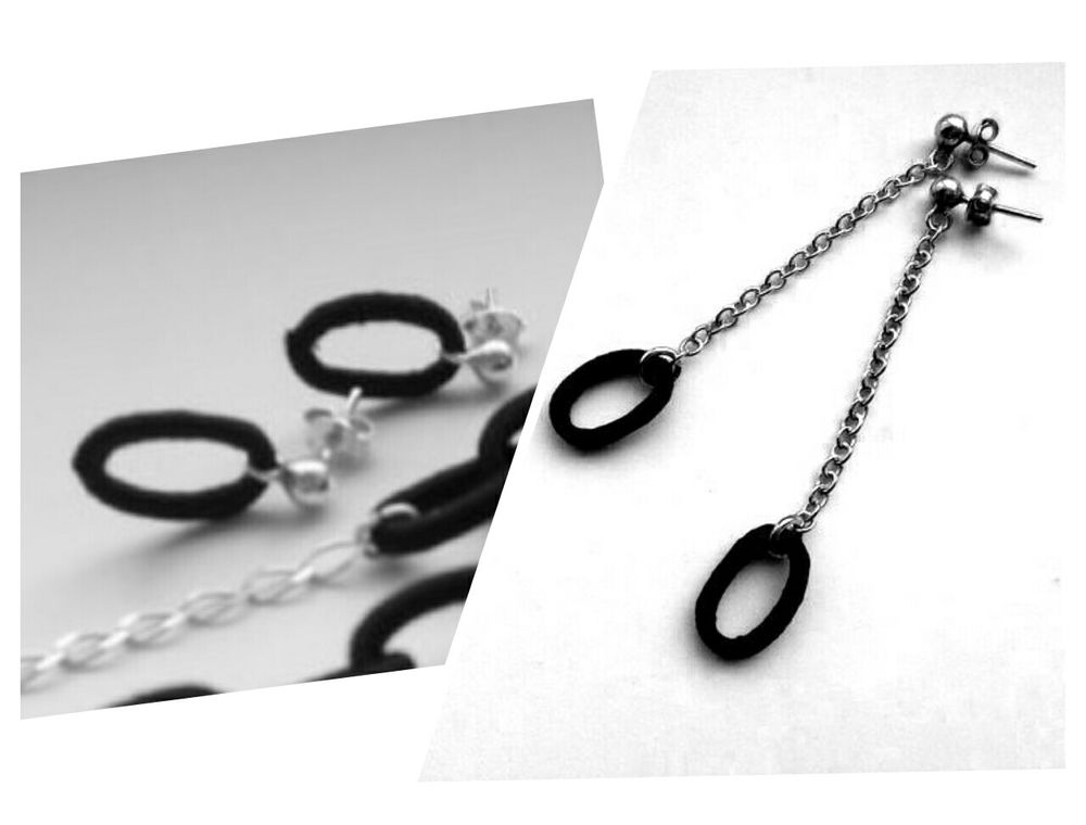 необычное сочетание, серебряные украшения