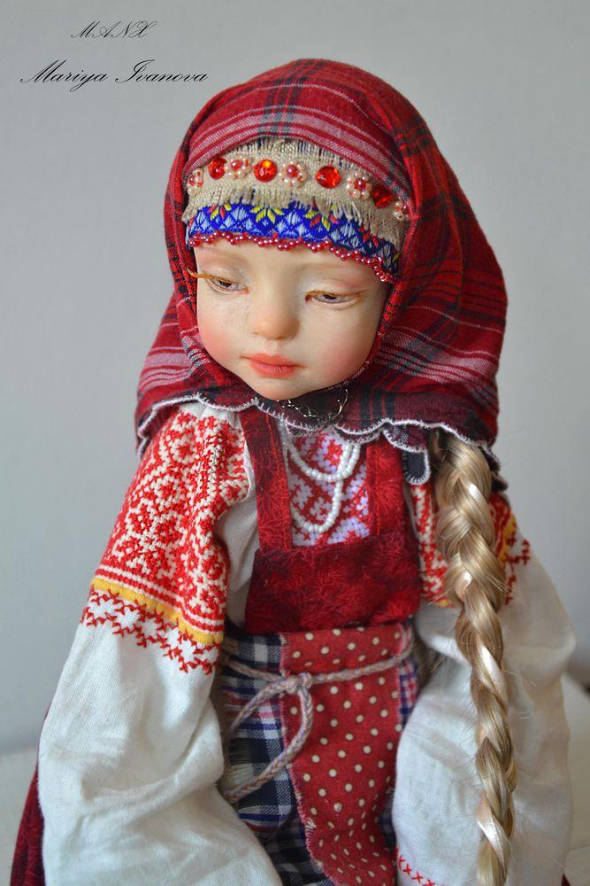 кукла в славянском стиле, красный