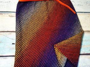 Вяжем диагональную юбку на вязальной машине. Ярмарка Мастеров - ручная работа, handmade.