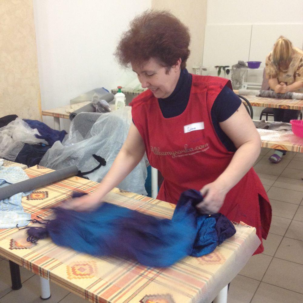Отчет о мастер-классе. Валяем мужской шарф с Юлией Левшиной, фото № 11