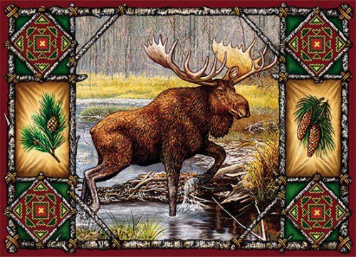 moose placemat...WoodLand Things website