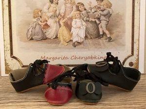 Мастер-класс по изготовлению кожаных туфель для антикварной куклы. Часть 1: шьем верх. Ярмарка Мастеров - ручная работа, handmade.