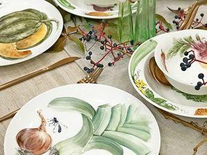 Столовый сервиз Овощи на тарелке. Ярмарка Мастеров - ручная работа, handmade.