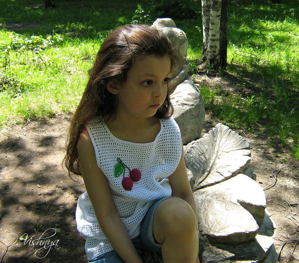вязание крючком, детское платье
