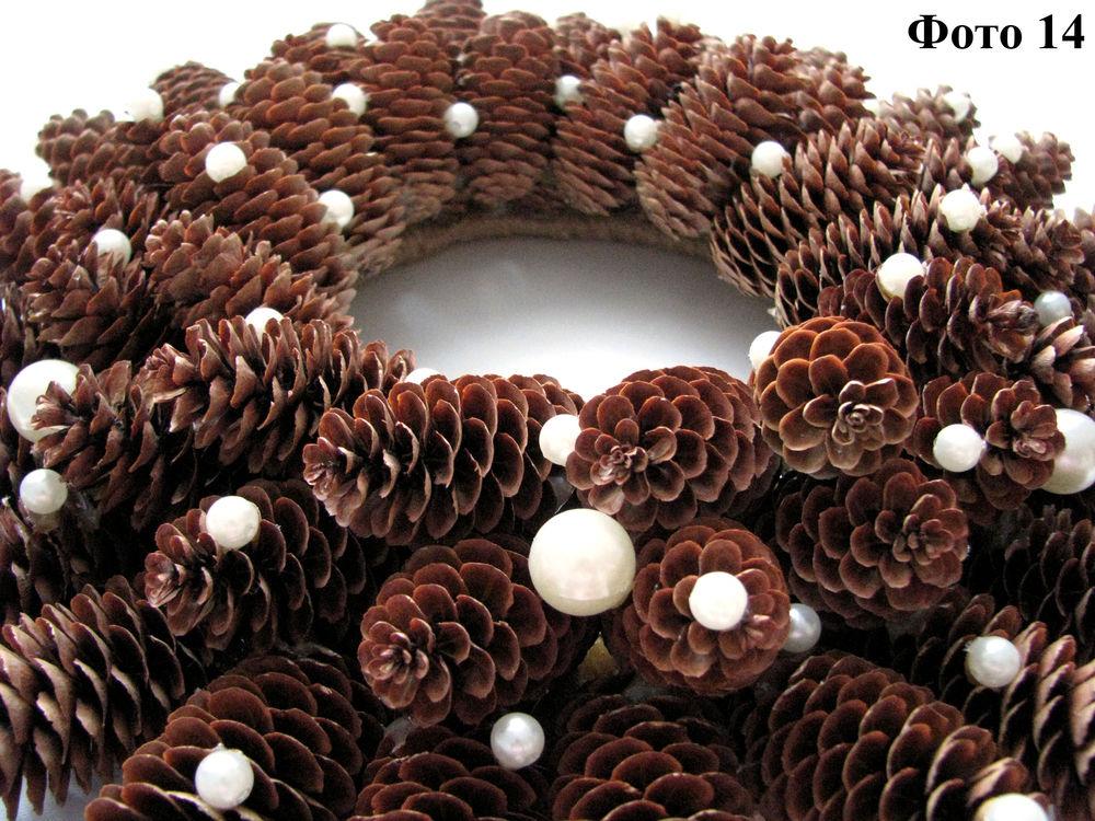 Мастерим Рождественский венок из еловых шишек, фото № 15