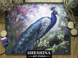 Видеоурок: рисуем павлина сухой пастелью. Ярмарка Мастеров - ручная работа, handmade.