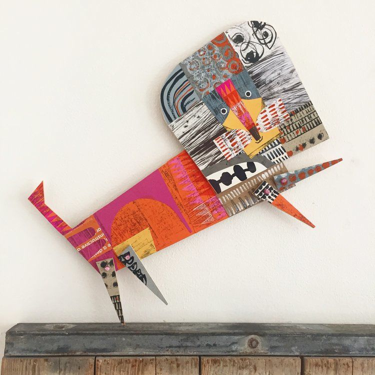 Cheerful Animals of Paper and Fabric by the Designer Clare Youngs, фото № 13