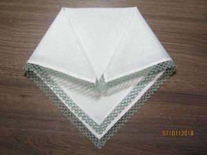 Делаем носовые платочки с кружевом фриволите. Ярмарка Мастеров - ручная работа, handmade.