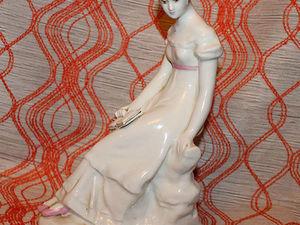 Татьяна Ларина, Вербилки. Антикварная фарфоровая статуэтка. Ярмарка Мастеров - ручная работа, handmade.