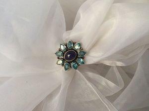 Цветок из топаза и танзанита — цветок из камня. Ярмарка Мастеров - ручная работа, handmade.