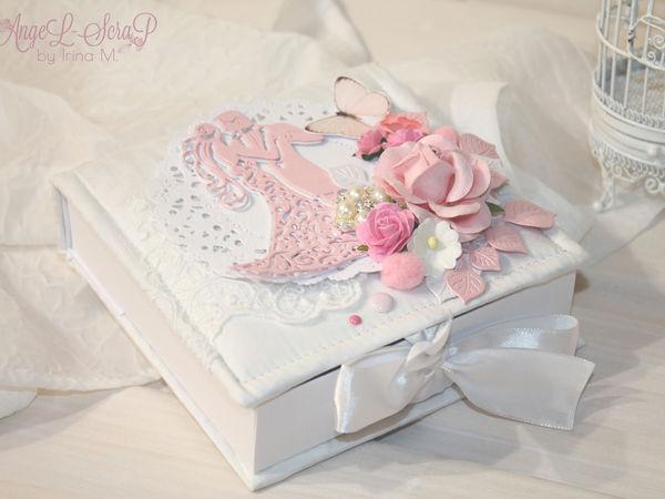 Новинка! Бело-розовая коробочка для денежного подарка на свадьбу | Ярмарка Мастеров - ручная работа, handmade