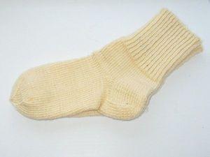 Тёплые полушерстяные носочки