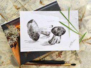 Острожно, юмор! Инструкция по рисованию грибов!. Ярмарка Мастеров - ручная работа, handmade.