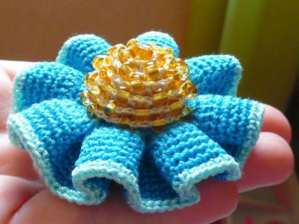Вяжем с бисером серединку цветку | Ярмарка Мастеров - ручная работа, handmade