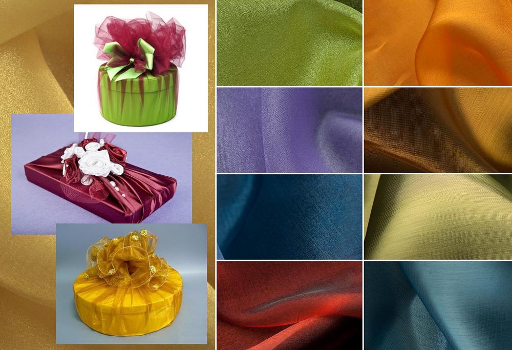 органза, упаковка подарка, упаковка своими руками, упаковка для подарка, текстильная упаковка, упаковка материалом, оригинальная упаковка, подарочная упаковка, фатин, декоративная сетка, дубль-органза, материал для упаковки