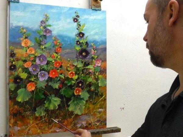 Цветочное настроение от художника Bill Inman   Ярмарка Мастеров - ручная работа, handmade