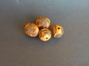 Бесшовные бусины из полимерной глины | Ярмарка Мастеров - ручная работа, handmade