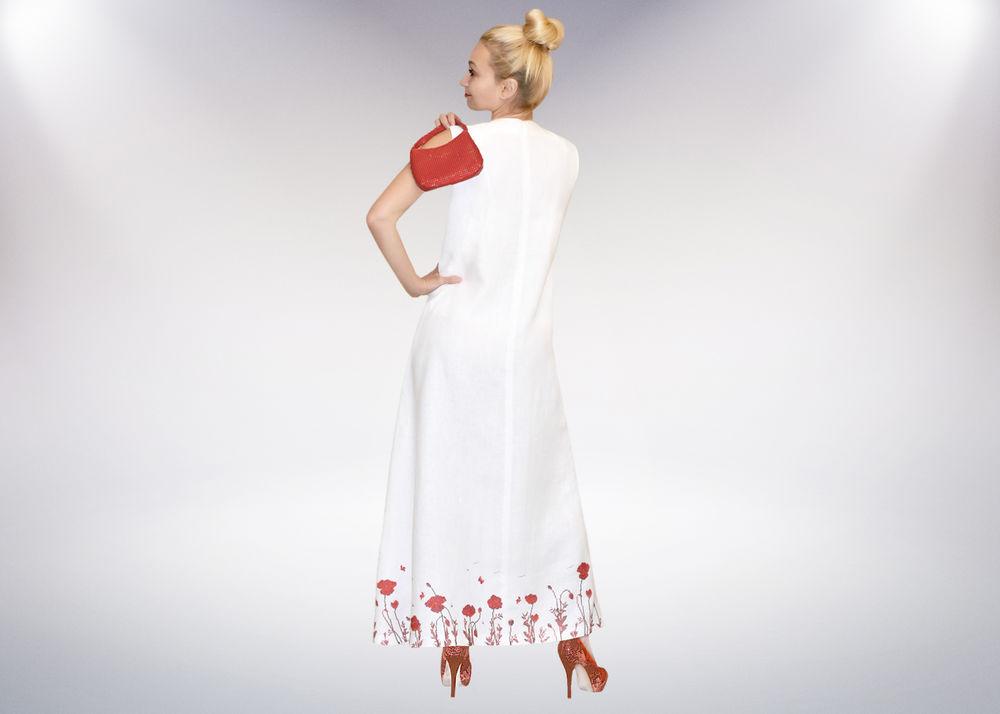 платье в пол, льняное платье, вышитое платье, летний сарафан, белое платье, макси платье, авторское платье