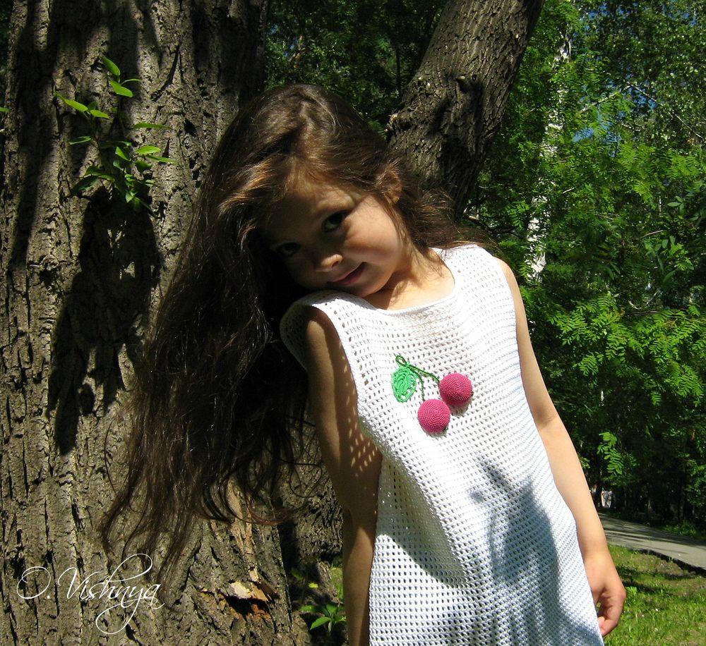 вязаное платье, девочкам