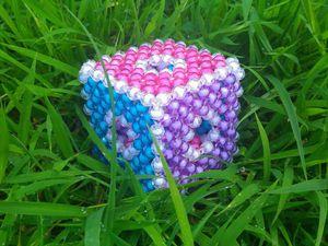 Развивающий кубик из граненых бусин. Ярмарка Мастеров - ручная работа, handmade.