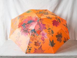 Роспись зонта «Рябина и осенние листья». 1-я часть. Ярмарка Мастеров - ручная работа, handmade.