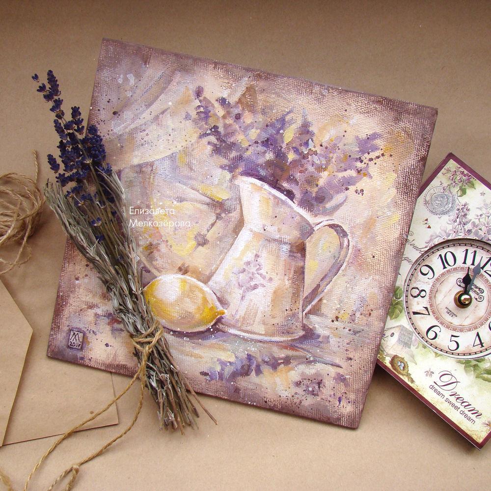 прованс прованский стиль, подарок подруге женщине, фиолетовый коричневый, графичный графика