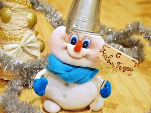 Видео мастер-класс: шьем очаровательного снеговёнка из капрона | Ярмарка Мастеров - ручная работа, handmade