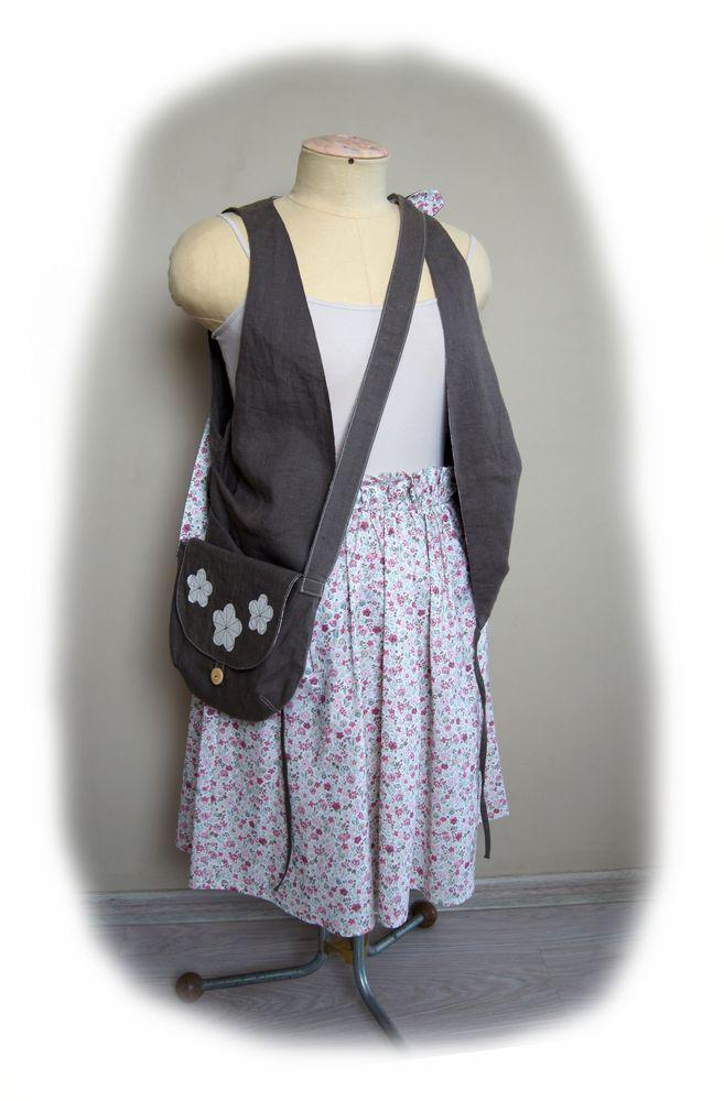 бохо, лен, текстильная сумка