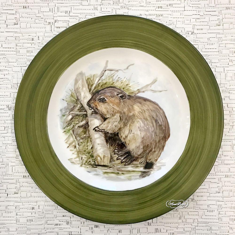 тарелка с птицами