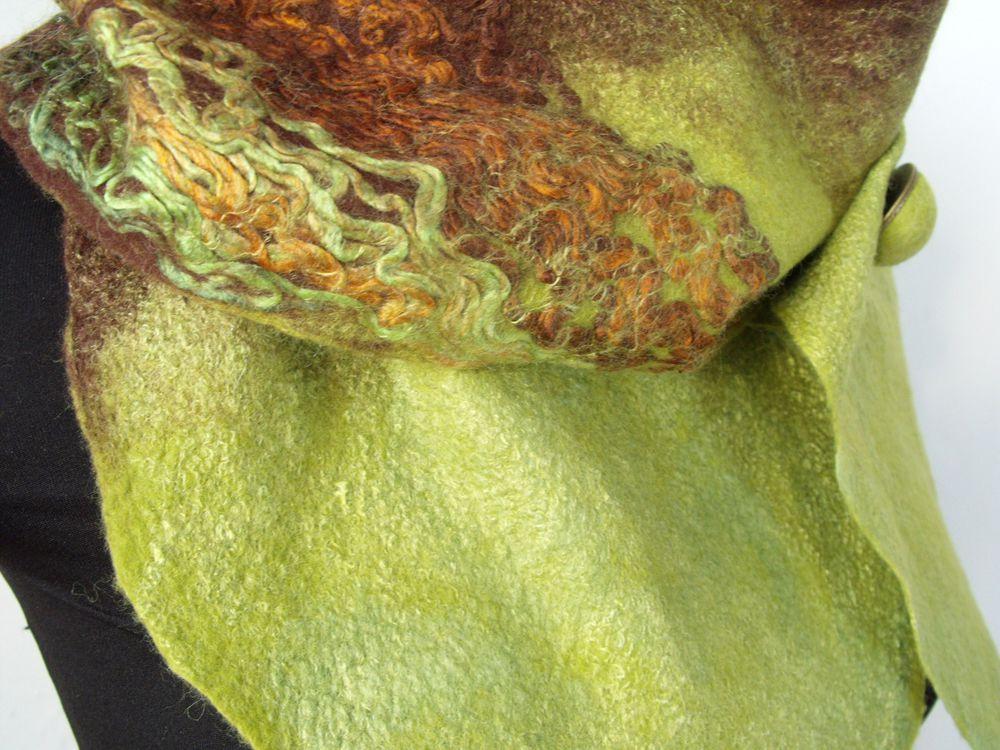шарф валяный, салатовый