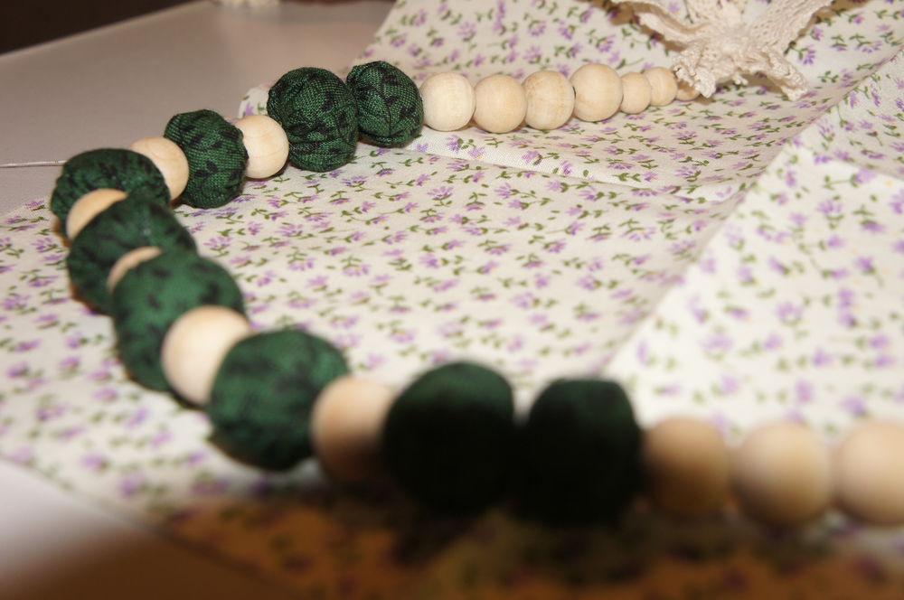 текстильные бусы, стиль