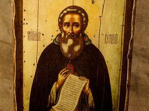 Скидка 20% на икону Сергия Радонежского. Ярмарка Мастеров - ручная работа, handmade.