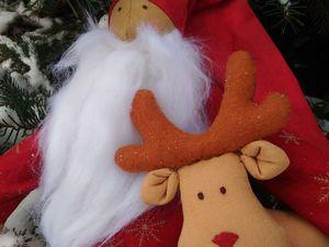 Создаем чудесного Деда Мороза и оленя. Ярмарка Мастеров - ручная работа, handmade.