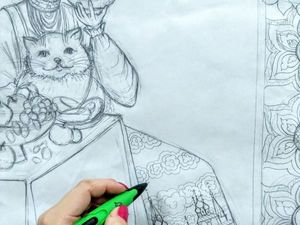 Рисунок для нового панно. Ярмарка Мастеров - ручная работа, handmade.