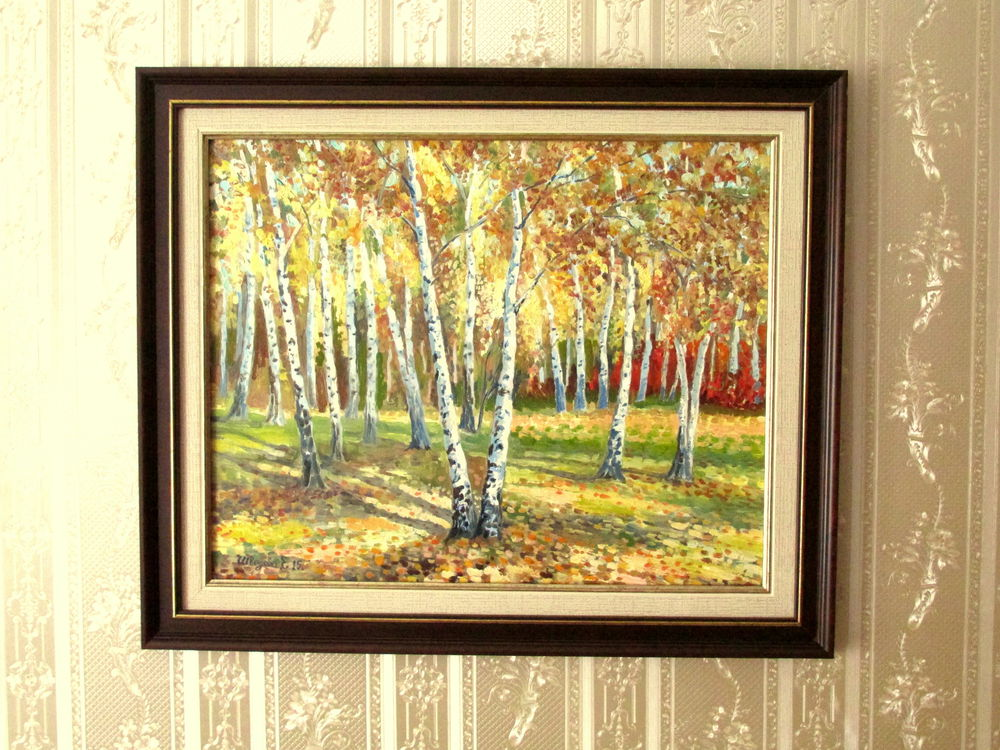осенний пейзаж, картина для интерьера, авторская работа, купить картину в москве